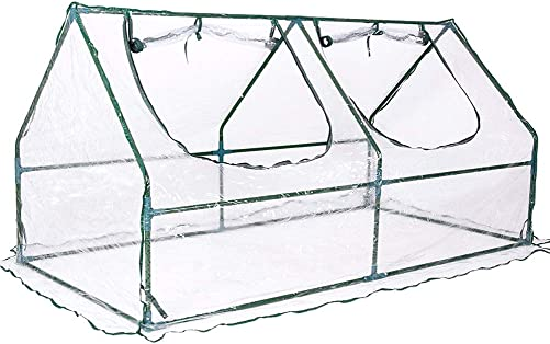 Ohuhu Mini Greenhouse, Small Plant Greenhouses, 4 Tier Rack Stands Portable Garden Green House for Outdoor Indoor, 1.5 x 2.25 x 5.25 FT