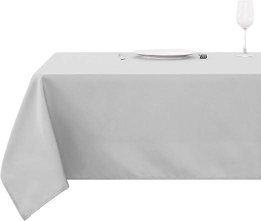 Deconovo Mantel para Mesa Rectangular de Cocina 130 x 280 cm Gris ...