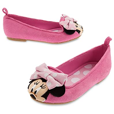 Amazon Com Disney Girls Minnie Mouse Flat Shoes Toddler 9 Pink Flats