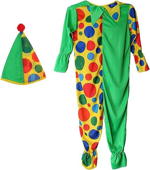 Kid Boy Disfraz De Circo Payaso Manchado Fiesta De Halloween Libro ...