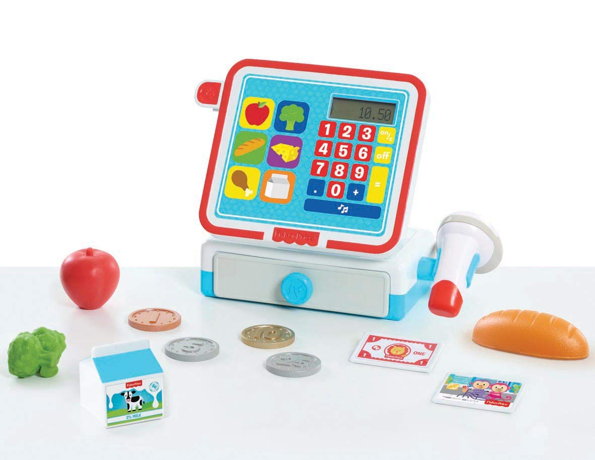 Fisher-Price Cash Register Set Toy, Multicolor by Fisher-Price