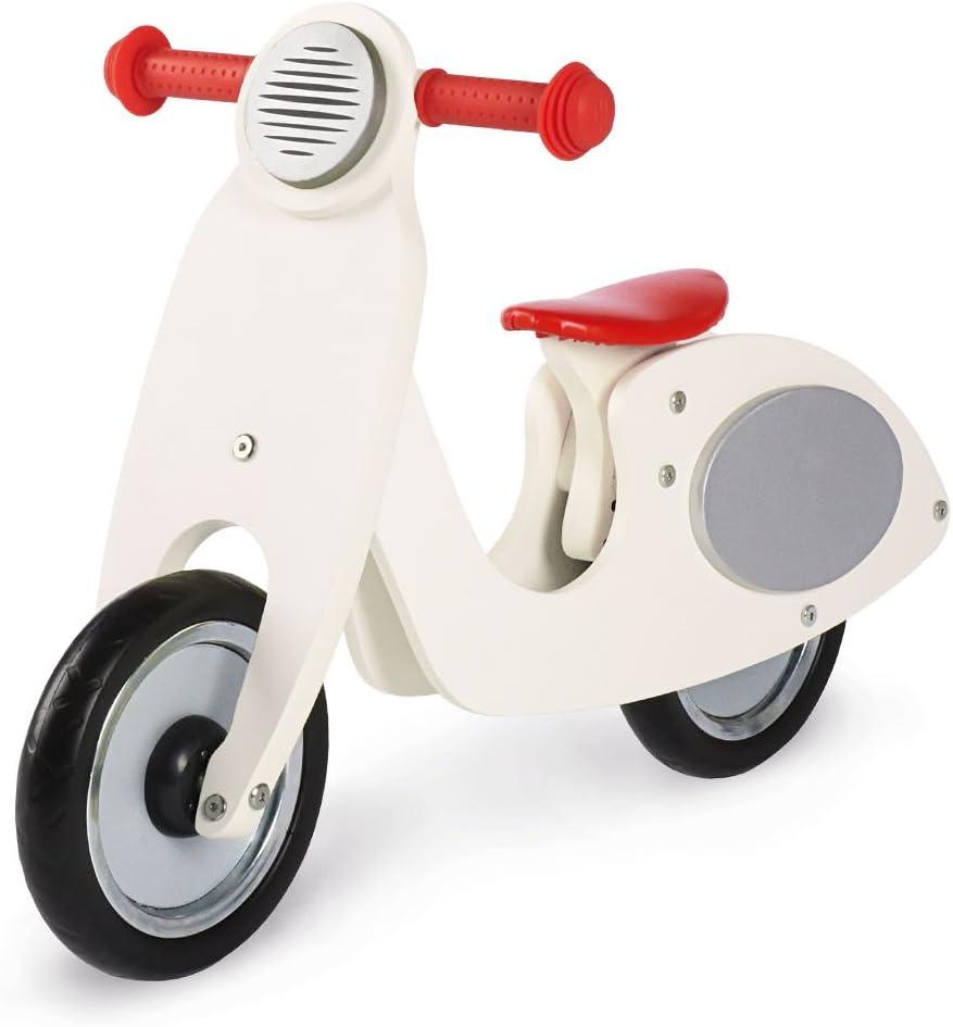 PINOLINO 239414 Apertura por Empuje Motocicleta Rojo, Color Blanco Juguete de Montar - Juguetes de Montar