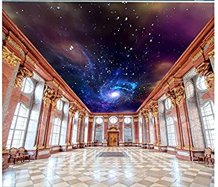 3d Wallpaper Mural Ceiling Silk Cloth Starry Sky Galaxy