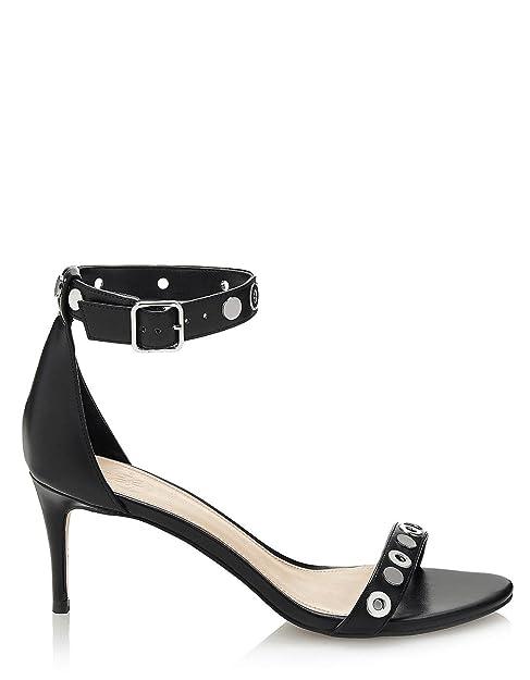 venta usa online gran venta de liquidación zapatos elegantes Negro Sandalias Tachuelas Fiesta Tqrxxsyx Amazon Negras ...
