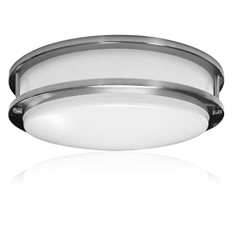 Zip Led 14 Surface Mounted Led Light Fixture For Ceiling Or Wall In Brushed Nickel 27w 4000k Natural White 2346 Lumen Triac Dimmable Dry Location