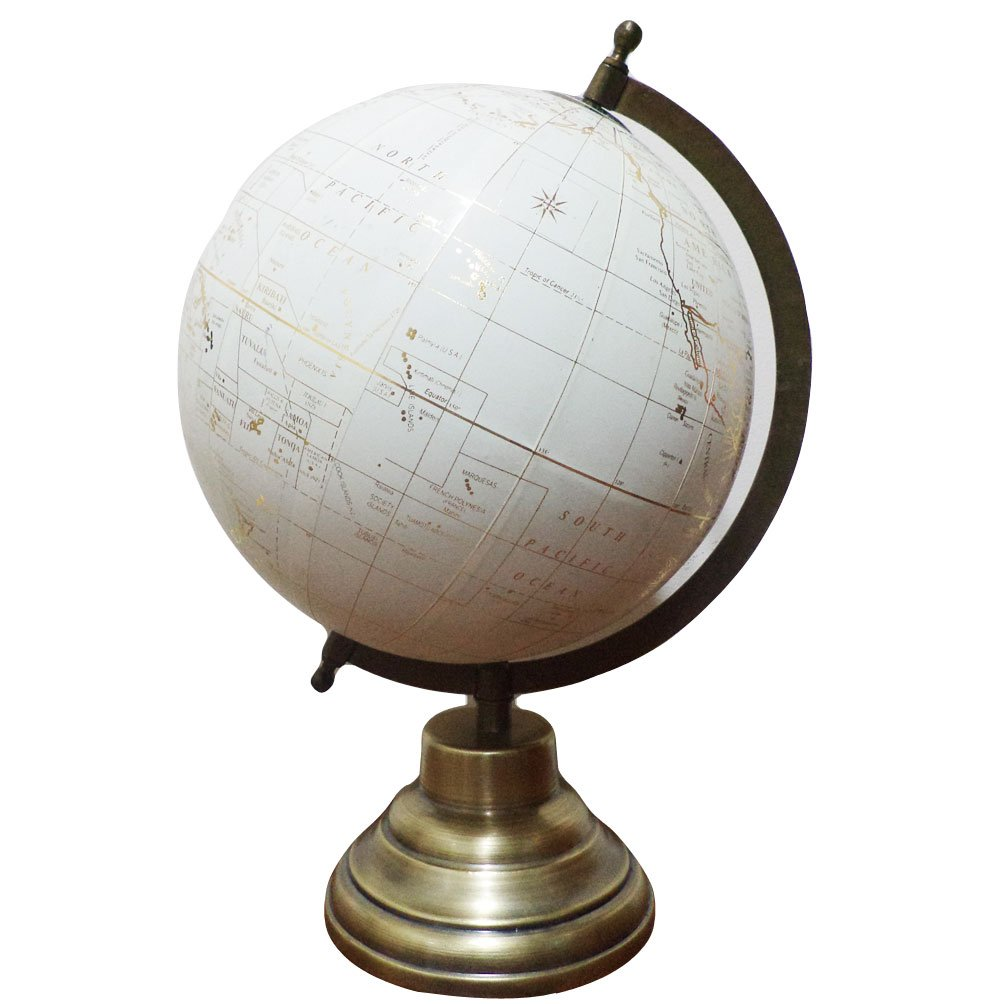 Schreibtisch-Globus, drehbar, Geografie-Tischdeko, mit Ozean, politisch, 20,3 cm BambooTreeJewel UGG040