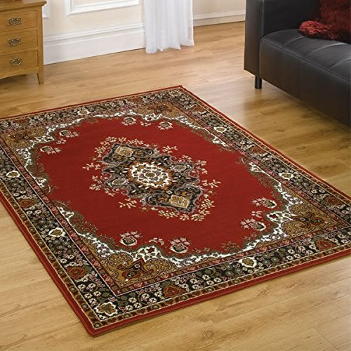 Flair Rugs Element Prime Lancaster Traditional Rug, Red, 120 x 160 Cm