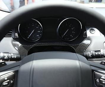 YIWANG Karbonfaser-Stil ABS Kunststoff Mittelkonsole Dekoration Rahmen Trim f/ür Giulia Stelvio