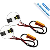 TZ Autoparts 9005 HB3 LED Headlight bulb 6 Ohm Resistance decoder, CANBUS EMC Warning Error Free Decoder Canceller Capacitor Anti flicker Resistor harness for LED Headlight HB3 HB4 9006 9012 Systems