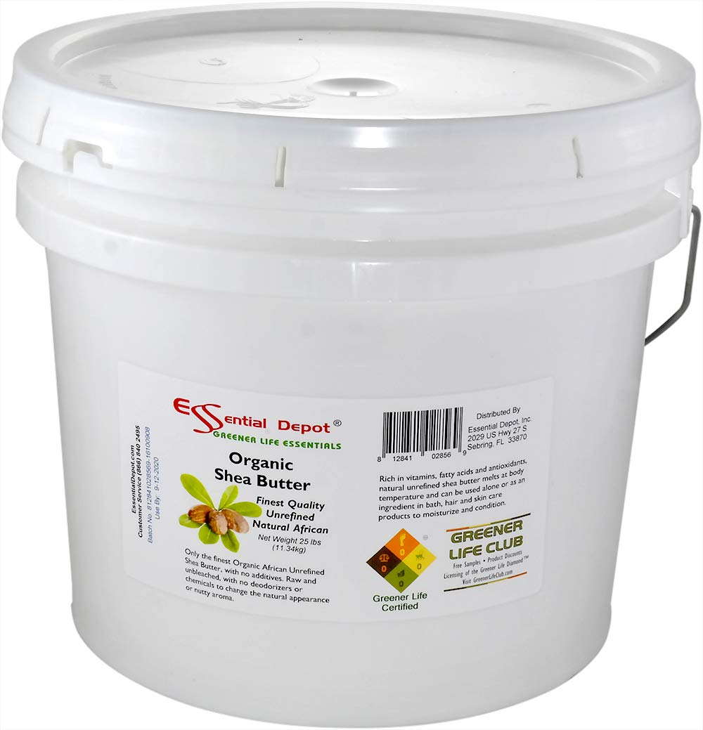 Organic Shea Butter Pail - Unrefined - 25 lbs by Essential Depot (Image #6)