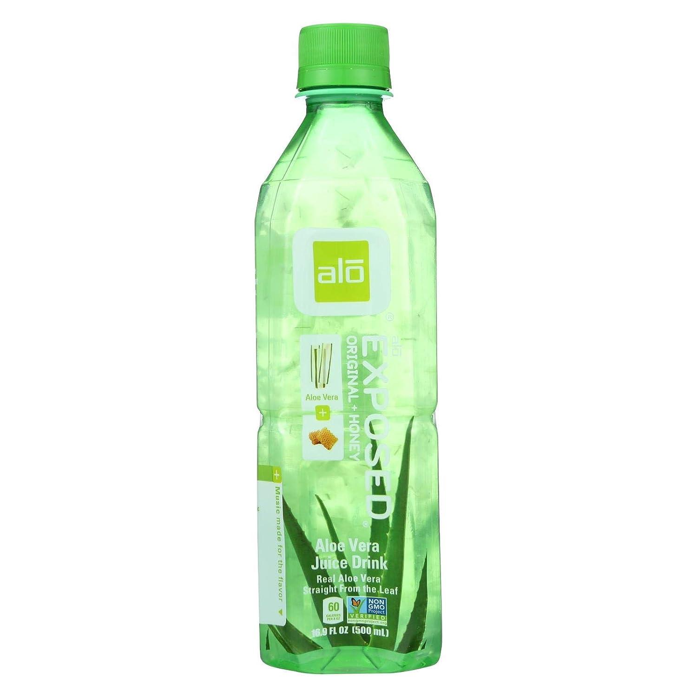 Alo Original Exposed Aloe Vera Drink, 16.9 Fl Oz (Pack of 12)