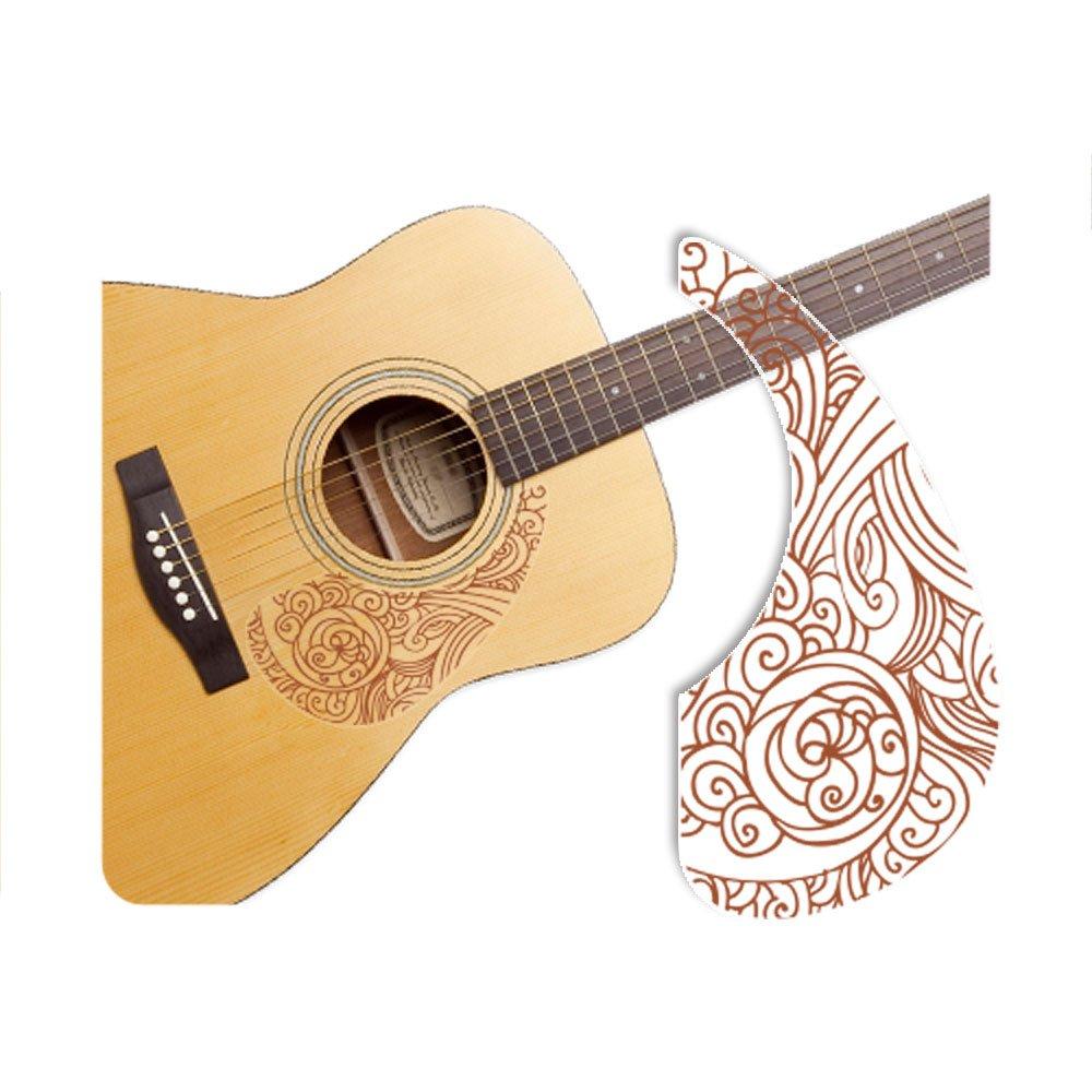 Healingshield Premium Acoustic Guitar Pickguard Basic Type Wave-Brown