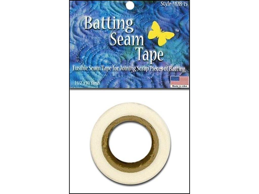 Bosal BSL428-15 Batting Fusible Seam Tape Pack, 1.5 x 10yd 1.5 x 10yd