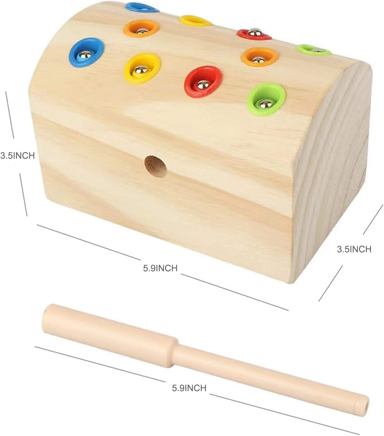 Mfumyy Fun Insect Magnetic Catching Game Educational Learning Toy for Kids,Fine Motor Skills Wooden Toy,for Toddlers Boys Girls 3 Ages+