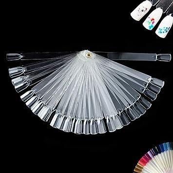 Amazon.com: 50 paletas de práctica de esmalte de uñas ...
