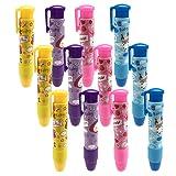 12PCS Creative Pencil Erasers Pen Style