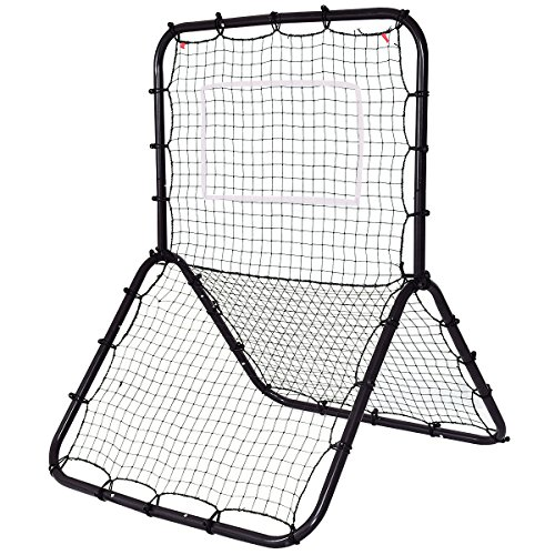 Goplus Baseball Softball Soccer Rebounder Multi-Sport Return Trainer Throw Pitchback Net Baseball Hitting Net Training Screen by Goplus