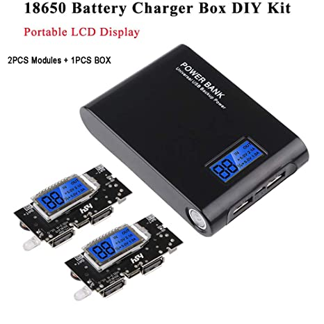 MakerFocus 18650 cargador de batería Kit de bricolaje, 2 ...