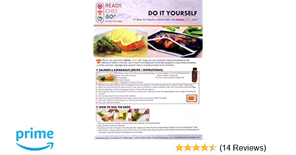 Amazon.com: Ready, Chef, Go! Seal and Cook Glassine Cooking Bags Pkg of 10 BPA Free: Kitchen & Dining