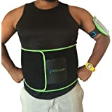 FitMeUp Sweat Belt Stealth Core Trainer Weight Loss and Core Strength for Men & Women. Reduces Stomach, Trims Inches, Supports Lower Back, Promotes Healthy Detox. Phone Arm Band Gift