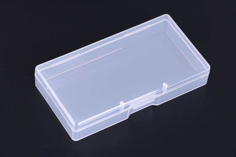 New Small Transparent Plastic Storage Box clear Square Multipurpose display gq