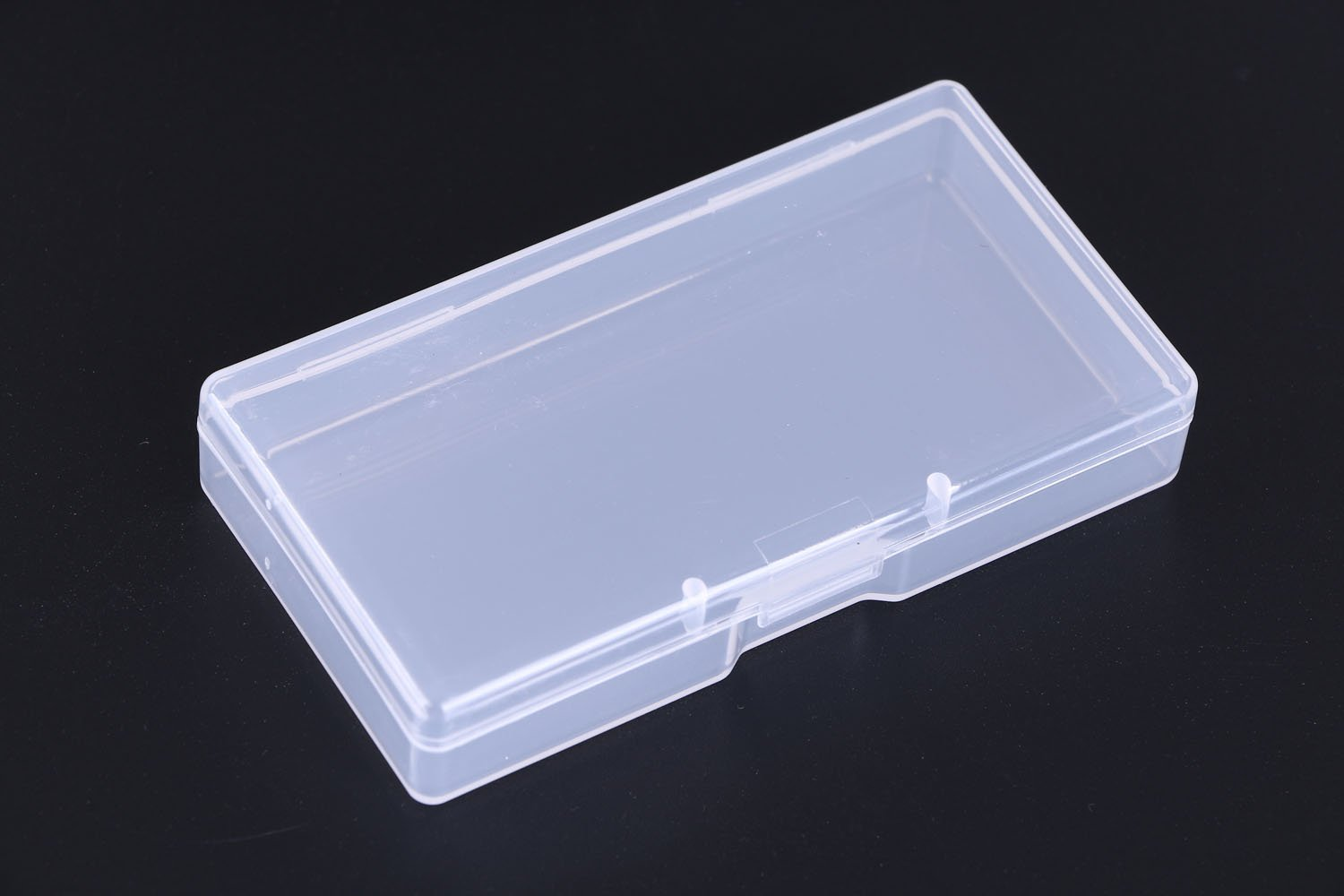 Mini Skater High Transparency Visible Plastic Box Clear Storage Case collection Organizer Container with Hinged Lid For Organizing Small Parts Office Supplies Clip Cotton Swab and pens (870 Pcs)