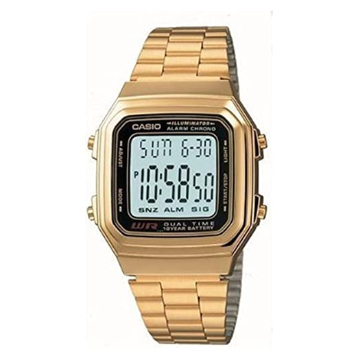 Casio Watch A178WGA1A (Size: Men)