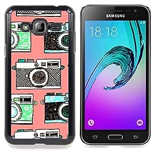 Eason Shop / Premium SLIM PC / Aliminium Casa Carcasa Funda Case Bandera Cover - Fotografía Foto - For Samsung Galaxy J3 GSM-J300