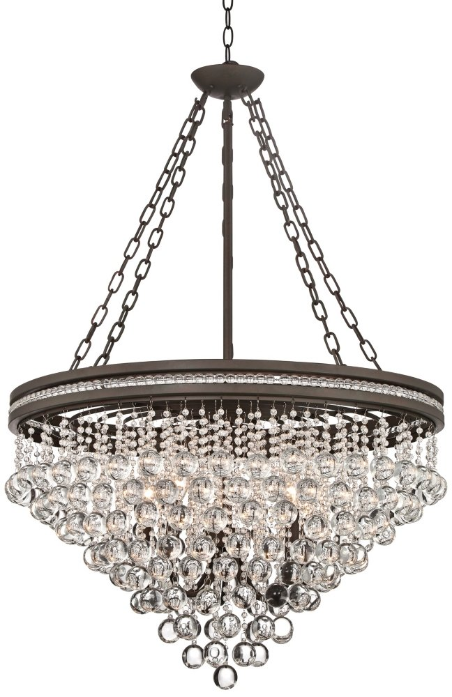 light globe wide black finish chandelier led industrial in orb p