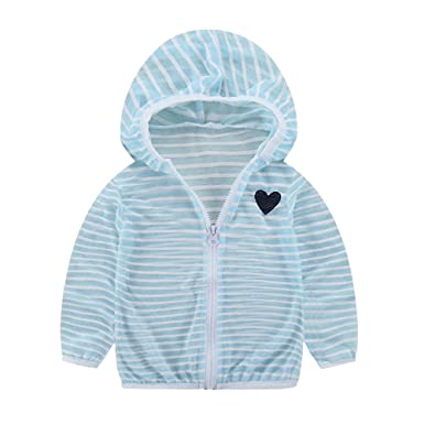2982f1b03 Lonshell_Toddler Clothing Toddler Baby Girls Boys Sunscreen Jackets Hooded  Striped Outerwear Coats Infant Kids Cute Printed UV Sun Protection Summer  Thin ...