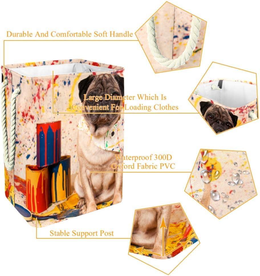 Indimization Carpe Rouge Sac à Linge Rectangle en Tissu Oxford avec poignées Panier de Rangement Haute capacité 49x30x40.5 cm Color4