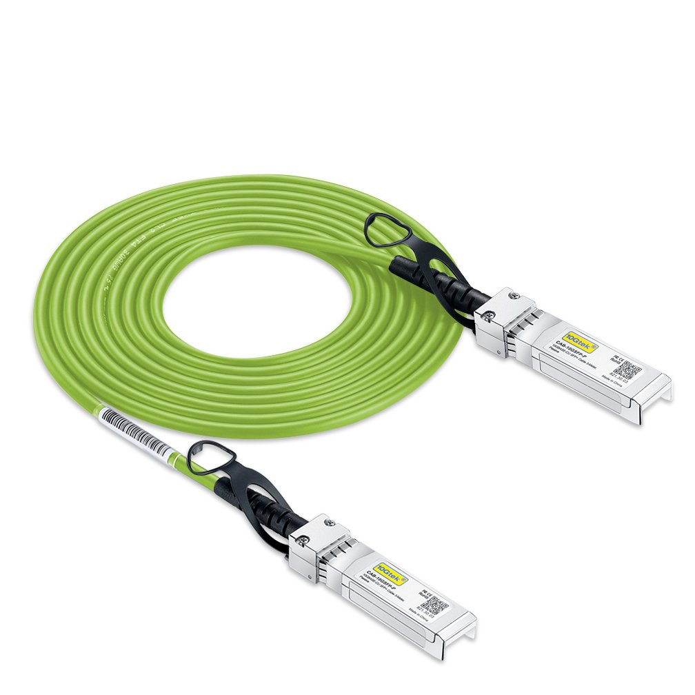 [Green Cable ] 10G SFP+ DAC Cable - 10GBASE-CU Passive Direct Attach Copper Twinax SFP Cable for Cisco SFP-H10GB-CU3M, Ubiquiti, D-link, Supermicro, Netgear, Mikrotik, ZTE Devices, 3m by 10Gtek