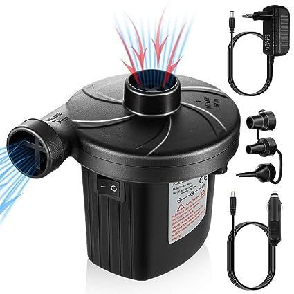 Schwimmring Elektropumpe Power Pump mit 3 Luftd/üse f/ür aufblasbare planschbecken Luftpumpe inkl.f/ür Camping Luftmatratzen Matratze Schlauchboote UOON Elektrische Luftpumpe