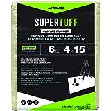 Trimaco 56708 SuperTuff 6 oz thick Utility Weight Canvas Drop Cloth, 4-feet x 15-feet,Beige