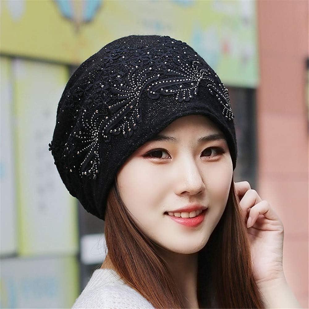 YXLMZ Grosor del Sombrero de Las Mujeres más pañuelo de Punto de Terciopelo Baotou Gran tamaño Mujeres Embarazadas Mes Sombrero Sombrero de Montar