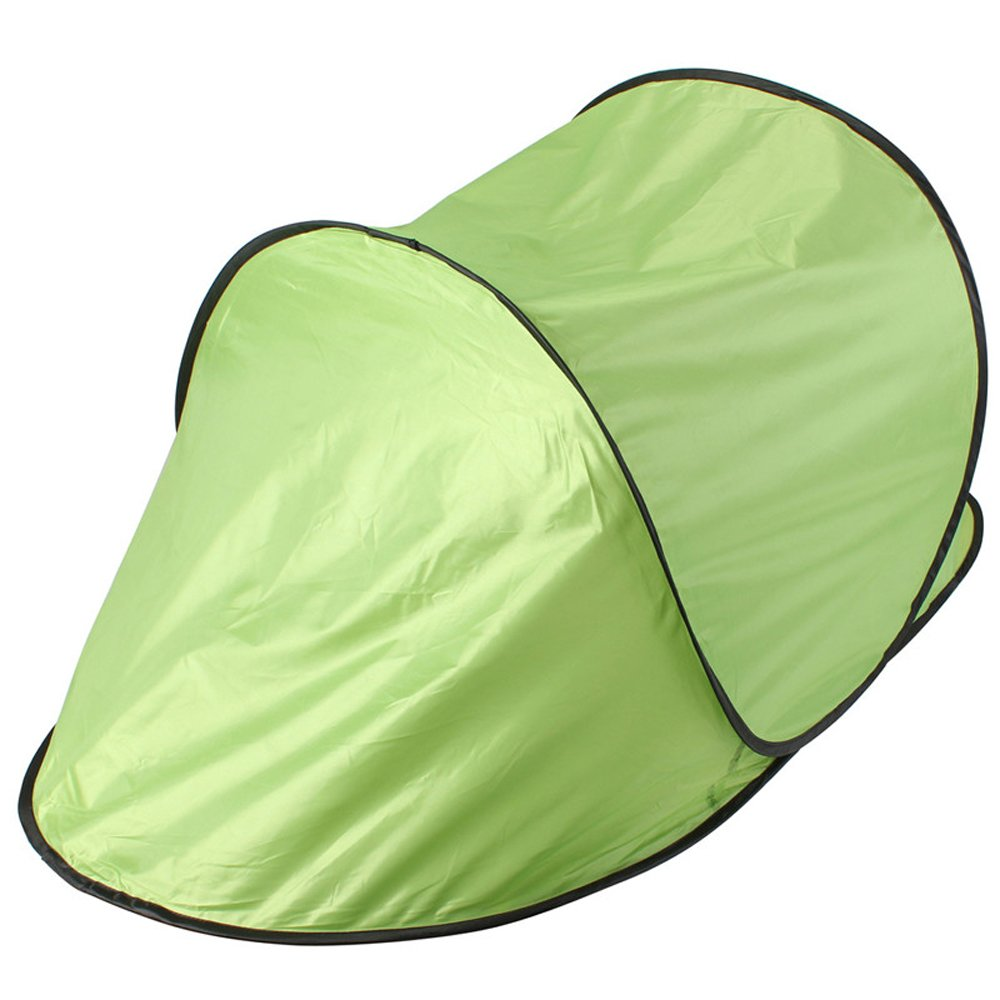RONGT Portable Beach Tent, [2018 Lightweight Sun Shelter UV Protection Automatic Pop Up Beach Canopy for One-to-Two Person (Green)