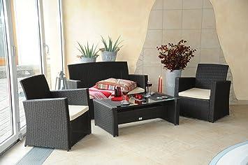 Avanti MODERN Rattan Lounge Gartenmöbel Set  2 Sitzer Sofa + 2 Sessel + 1  Tisch