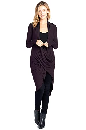 dc10286aabc Modern Kiwi Long Solid Wrapped High Low Tunic Top (S-3X) at Amazon ...