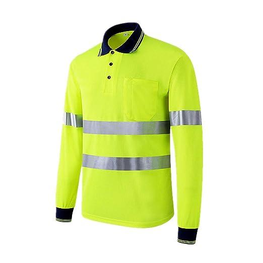 LOVEQIZI Camiseta Reflectante De Alta Visibilidad Camisa ...