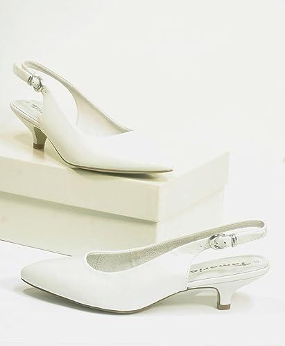 Tamaris Leder Sling Pumps weiß Gr. 38: : Schuhe