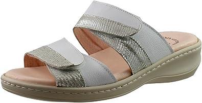 Chanclas con cuña pequeña de Piel con Plantilla de Piel Acolchada con Gel Muy cómodas Hechas en España: Amazon.es: Zapatos y complementos