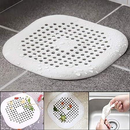 Hair Catcher Stopper Trap EVRI Flexible Best Shower Bath Drain NEW White
