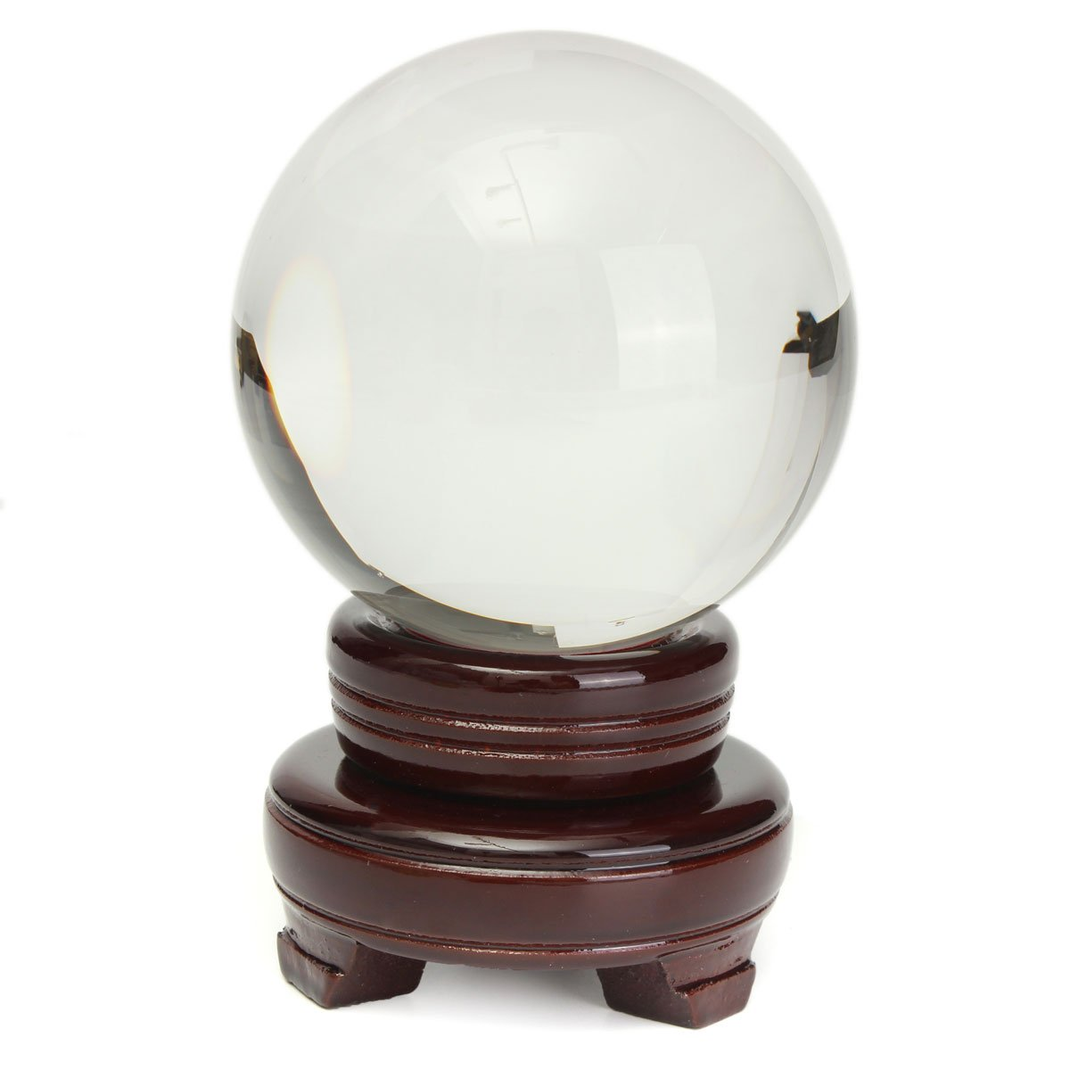 100mm Clear Crystal Ball Asian Natural Quartz Magic Healing Ball Sphere with Stand