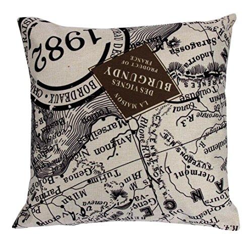 Iuhan Fashion Pillow Case Sofa Waist Throw Cushion Cover Home Decor (D)