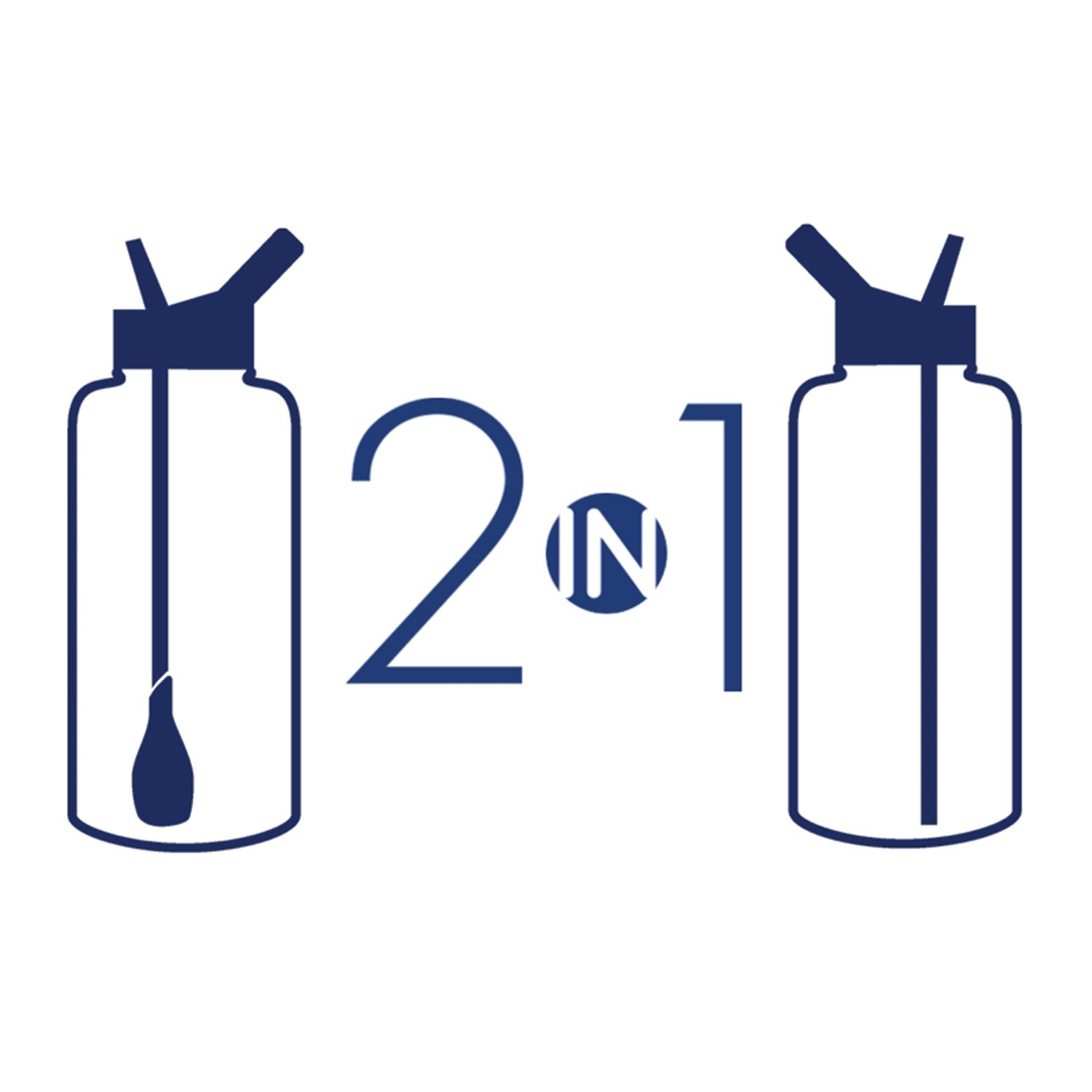 refresh2go 32oz Excursion Vacuum Insulated Stainless Steel Filtered Water Bottle, Blue (11020-BL) by Refresh2go (Image #2)