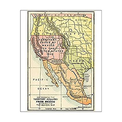 Amazon.com: 10x8 Print of U.S. Territory gained from Mexico ...