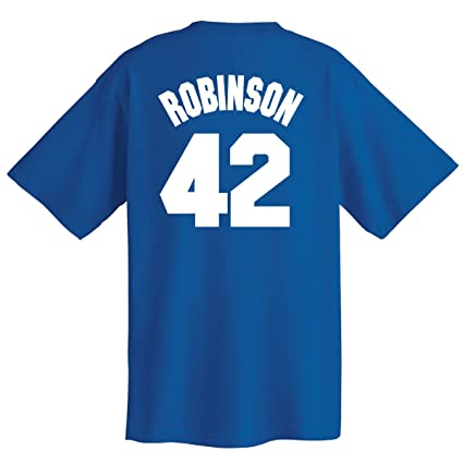 604d7adceb3 Majestic Jackie Robinson Big   Tall Brooklyn Dodgers  42 Cooperstown Name  and Number T-