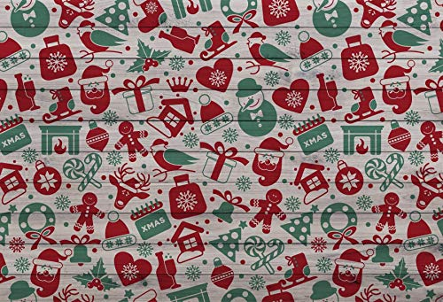 - Leyiyi 5x3ft Photography Background Merry Christmas Backdrop Happy New Year Cartoon Xmas Rustic Wooden Board Santa Claus Snowman Fireplace Lollipop Candy Cane Gifts Photo Portrait Vinyl Studio Prop