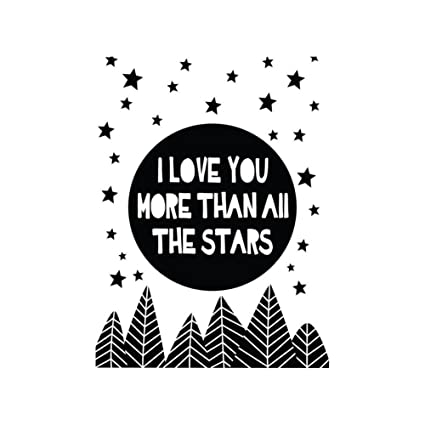 Amazon Braceus Love Quotes Star Print Frameless Canvas Painting Cool Canvas Love Quotes