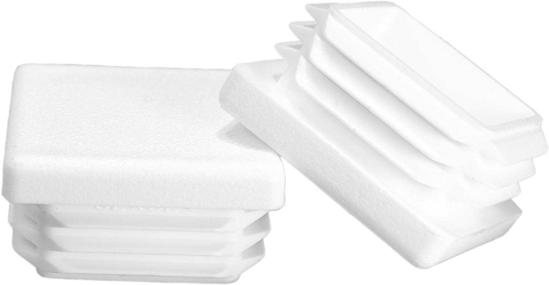 OD Durable Chair Glide Tubing End Cap 1 1.00 Prescott Plastics 10 Pack: Square White Plastic Plug